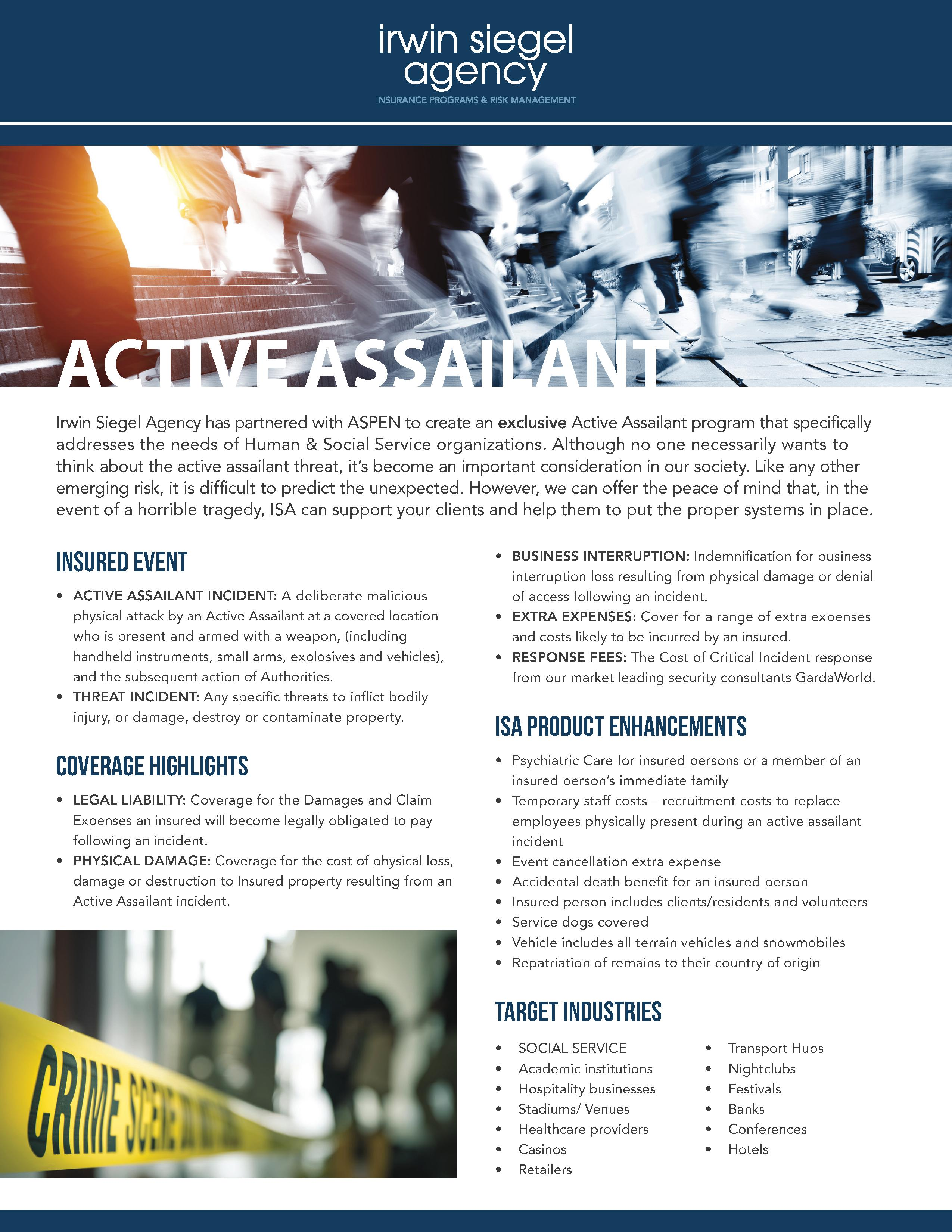 Active Assailant Program Information